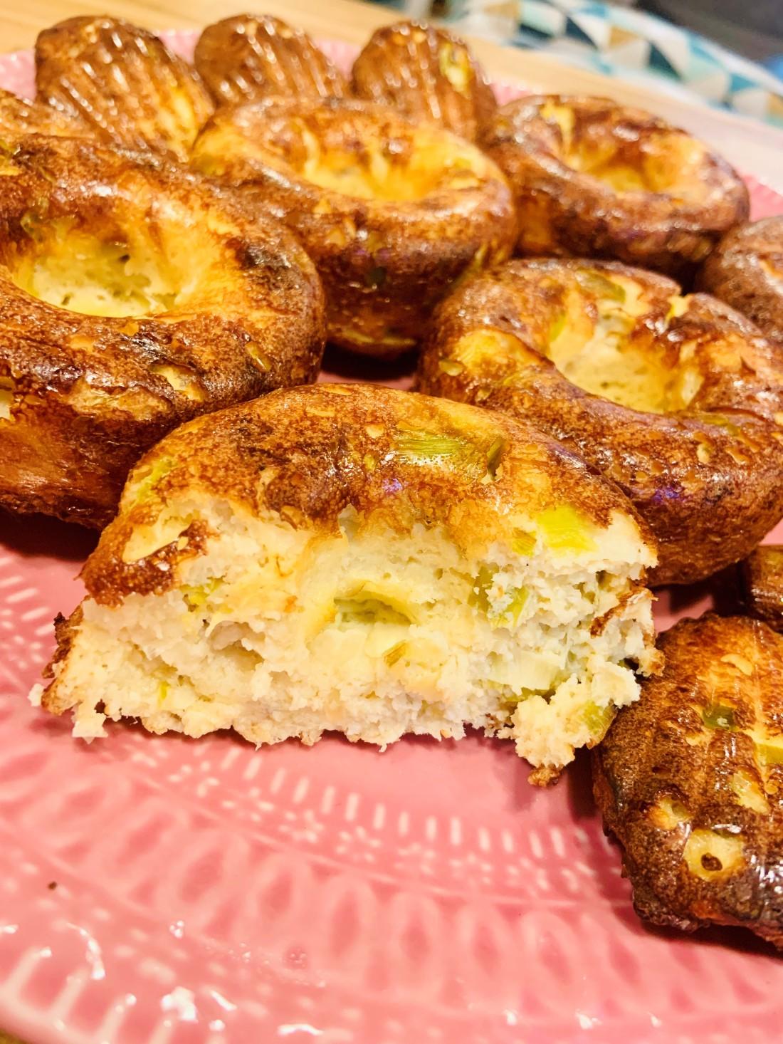 muffins 2 poireaux oignons keto